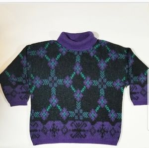 Vtg Benelton Abstract Geometric 80s 90s Sweater
